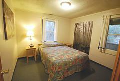 Cabin 9 queen master bedroom First Landing State Park-2 (vastateparksstaff) Tags: cabin cinderblock 2bedroomcabin