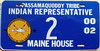 Passamaquoddy Tribe Indian Representative to the Maine 2000-02 Legislature License Plate (Suko's License Plates) Tags: wabanaki passamaquoddy penobscot maliseet micmac indian tribe nation tribal native licenseplate matricula placa patente kennzeichen nummerschild targa targhe plaqueimmatriculation plaque numbertag license plate band nativeamericanindians