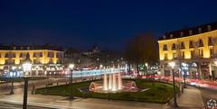 Place Jean Jaurès by Night (PaaulDvD) Tags: tours loire city loirevalley light night blue hour center tram longexposure