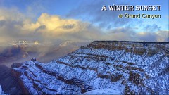 A Winter Sunset at Grand Canyon (Chief Bwana) Tags: az arizona grandcanyon grandcanyonnationalpark nationalparks canyon sunset video psa104 chiefbwana