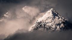 We three peaks (Peter Hungerford) Tags: mountains peaks snow clouds