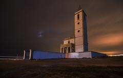 Iglesia de las Salinas de Cabo de Gata (svg74) Tags: cabodegata iglesiadelassalinas almería nocturna night noche longexposure largaexposición andalucía andalusia landscape españa spain sky