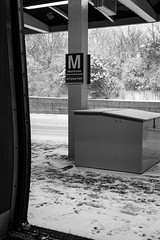 073/365: M(mmmmm)... Snow (dharder9475) Tags: 073365 2017 365project bw blackandwhite chicagotransitauthority cta empty montroseblueline platform privpublic sign snow winter winterstorm