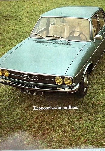 The 1970s-1974 ad for Audi 100