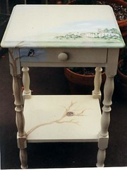 bird nest table (artistgal) Tags: art painting table painted
