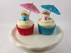 Gender reveal cupcakes for twins (Creative Cakes by Allison) Tags: beach sand buckets gender reveal