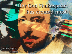 After God Shakespeare (Humphrey King) Tags: art history collage book poetry artistic god quote religion modernism shakespeare books literature joyce writer genius write elizabethan drama folio secular hamlet ulysses jamesjoyce williamshakespeare
