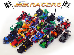 DC Superheroes Racers (Oky - Space Ranger) Tags: woman green robin wonder penguin dc lego general go scarecrow ivy super