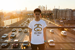Trido (obeymoscow) Tags: sunset cars colors river lights town moscow trafic stussy moscowriver snapback