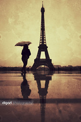 Paris! (www.digart.gr) Tags: portrait woman paris tower girl beauty rain fun nikon eiffel d7000