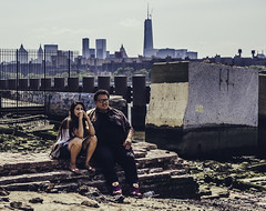 Friend Zone...Or Are They??? (Instant Vantage) Tags: leica nyc summer newyork brooklyn big couple manwoman fat small craft fair eastriver opposites attract thin renegade dlux bk chicharon renegadecraftfair 2013 eastriverstatepark leicadlux4 dlux4