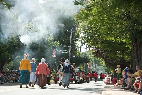 Musket fire on Main Street