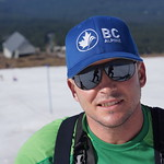 Women's Coach JP Daigneault at Mt. Hood (reflection of photographer Brandon Dyksterhouse in JP's sunglasses!)