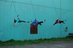 Urban aerial dance (radargeek) Tags: alaska ak anchorage powerplant momentumdancecollective urbanaerialdance