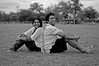 P & P (ramkumar999) Tags: park portrait bw white black smiling 35mm pose nikon florida miami tropical casual f18 d40