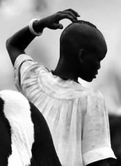 Dinka Cattle Camp (michaelfreemanphoto) Tags: camp cow cattle african smoke sudan rumbek horns steer herd dinka herders cattlecamp pastoralist nrrumbek