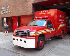 E054s FDNY Emergency Crew Spare Vehicle, Theater District, New York City (jag9889) Tags: county city nyc house ny newyork west building ford station architecture truck fire manhattan 4 engine 9 midtown company crew vehicle borough ladder spare firehouse emergency 54 fdny department firefighters 8t