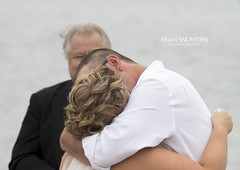 Jacklyn & Ryan Wedding, First Kiss (Brian Snowden Photography) Tags: wedding portrait love beach groom bride kiss halfmoonbay firstkiss