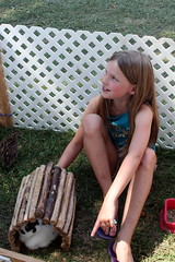 Girl Befriending a Rabbit_8717 (Bobolink) Tags: ontario stirling stirlingagriculturalfair