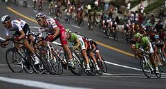 Racing time! (jimberneike) Tags: bicycle corner fast racing professional saltlakecity stage4 2013 tourofutah