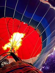 Hot Air (delitefulimage) Tags: she vacation sky sun holiday colors night campus fire gold interesting sand surf colours basket swiss stock balloon rope diamond business flame blond hotairballoon brunette sales wicker peanutbutter platinum propane interloper profits delitefulimage itsballoon