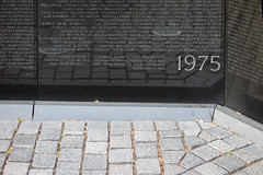 Maya Lin, Vietnam Veterans Memorial, detail of the final names