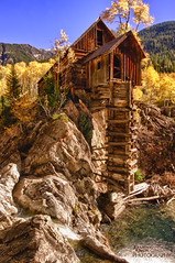 Crystal Mill 1 (dpack21) Tags: blue sky color fall mill water rocks crystal aspen hdr