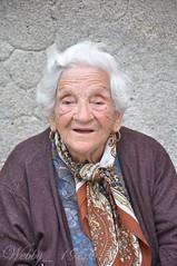 """ Bella "" (webby1956) Tags: old portrait people italy lady scarf grey italian sweet million six"