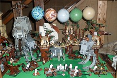 Lego Endor Diarama (Darth Ray) Tags: happy star day lego appreciation ewok wars sets endor yubnub