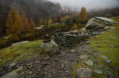 La casa sull'acqua?? (supersky77) Tags: autumn mist alps rain fog alpes val alpen nebbia autunno alpi pioggia lombardia lombardy lario darengo lombardei altolario valdarengo lagodarengo