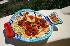 Penne arrabbiata with olives (TimesFood) Tags: tomato pasta olives penne