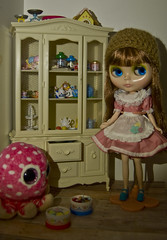 Baby's Breath with vintage sindy cabinet and rement (1 of 1)