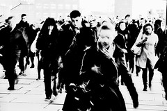 Blur of Commuters (2) (A-Lister Photography) Tags: city uk longexposure morning england blackandwhite motion blur london horizontal businessman work londonbridge walking landscape movement workers cityscape employment pavement walk citylife icon business sidewalk motionblur walker rush pedestrians worker commuting rushhour innercity iconic financial walkers offices commuters unemployment reallife cityoflondon finance businessmen businesspeople workforce officeworkers worklife realpeople londonicon cityworkers cityphotography officeclothes iconiclondon adamlister nikond5100 alisterphotography vision:outdoor=0796 vision:car=0668