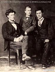 BenedettoPrati MichelangeloPrati GiulioCesarePrati 1878-80(Foto de Rodríguez Prati)