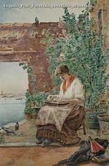 Eugenio Prati Fusettaia veneziana acquerello