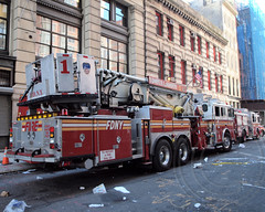 """E007l FDNY """"Heavy Hitters"""" Ladder 1, Civic Center, New York City (jag9889) Tags: county city nyc ny newyork building tower classic station architecture truck fire 1 manhattan district engine 7 center company civic borough tribeca ladder firehouse financial fdny department firefighters civiccenter 2012 seagrave bravest battalion magnificentseven engine7 battalion1 heavyhitters ladder1 e007 jag9889 y2012"""