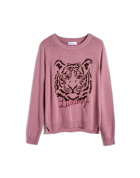 獅子毛衣(女)-豆粉