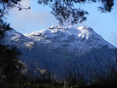 Hills covered with the first snow of the winter (milnefaefife) Tags: autumn trees snow mountains woodland landscape scotland highlands hills trossachs balquidder monachylemhor lochdoine