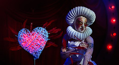 Strike, dear mistress, and cure his heart (gh0stdot) Tags: portrait london club canon blood stage feather nightlife cabaret bethnalgreen davidlynch 60d bestviewedonamac doublerclub