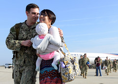 NMCB-3 returns from a deployment. (Official U.S. Navy Imagery) Tags: unitedstates five calif homecoming seabees porthueneme redeployment nbvc nmcb3 navalbaseventuracounty navalmobileconstructionbattalion3 vision:people=099 vision:face=099 vision:outdoor=099 vision:sky=0928