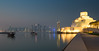 The Museum of Islamic Art and the Doha Skyline (v.pisapati) Tags: sunset reflection art heritage museum architecture night mirror artist im image cloudy culture architect arab pei islamic doha qatar dhow nofilter partly addoha addawhah dawhah