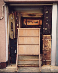 Wall of WW2 age suitcases (7188/ holger feroudj) Tags: from road japan fruit vintage photography tokyo photo ww2 share suitcases tweet holgerferoudjcom