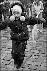 *** (Dmitry_Ryzhkov) Tags: life street city winter portrait people urban blackandwhite bw snow motion film public girl monochrome face closeup kids analog 35mm children photography kid jump jumping movement eyes play shot photos russi