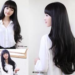 วิกผมยาว แบบสาวเกาหลีหน้าม้าสวยแบบธรรมชาติน่ารักใหม่ นำเข้า สีดำ - พร้อมส่งW008 ราคา670บาท วิกผมยาว วิกผมยาวหน้าม้า สวยด้วยทรงผมยาวปลายสวอนสวยแบบสีดำธรรมชาติสุดๆหวานสวยน่ารักทุกงานมั่นใจอย่างดารารุ่นนี้ทรงใหม่น่ารักมากๆฮิตสุดๆ จะออกงานให้ดูน่ารักแบบดาราเก