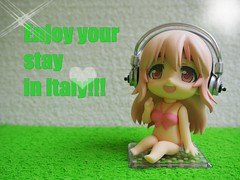 Bye bye, Sonico (sh0pi) Tags: pink up holidays dress rosa dressup super company more gsc swimsuits 252 sonico goodsmile nendoroid nendoroidmore sonicochan