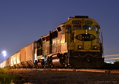 """Southbound Local in Lenexa, KS (""""Righteous"""" Grant G.) Tags: railroad burlington train south railway trains down kansas locomotive local tied northern freight bnsf southbound manifest atsf"""