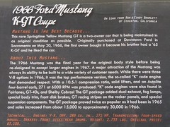 1966 Ford Mustang K-GT Coupe 'SNV 135' Info (Jack Snell - Thanks for over 21 Million Views) Tags: california ca wallpaper classic ford wall museum vintage paper you antique side automotive 1966 historic camaro oldtimer sacramento mustang 135 veteran which coupe on towe snv are kgt jacksnell707 jacksnell