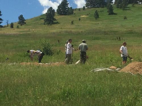 Photo - Volunteer trail building project at Chautauqua