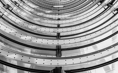 DSC_0603-3 (deborahb0cch1) Tags: architecture abstract building geometric symmetry monochrome blackandwhite lines curves tube glass steel glassandsteel