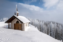 Chapel of Saint Hubertus (Bergfex_Tirol) Tags: bergfex oesterreich kapelle chapel österreich schnee kirche austria winter church snow hubertus gabühel